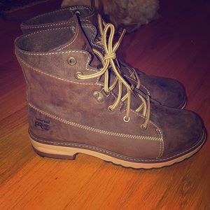 Women's timberland leather boots